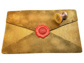 Sealed Envelope Shows Private Message Mailed — Stock Photo