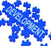 Development Puzzle Shows Business Improvement — Stock Photo