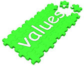 Values Puzzle Shows Principles And Morality — Stock Photo