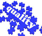Quality Puzzle Showing Excellence And Premium Products — Stock Photo