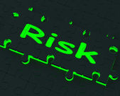 Risk Puzzle Shows Danger And Unsafe — Stock Photo