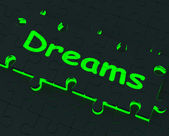 Dreams Puzzle Showing Desires And Wishes — Stock Photo