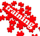 Training Puzzle Showing Business Coaching — Stock Photo