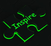 Inspire Puzzle Shows Motivation And Inspiration — Stock Photo