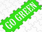 Go Green Puzzle Shows Eco Friendly Activities — Stock Photo