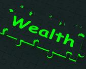 Rijkdom puzzel met rijkdom en overvloed — Stockfoto