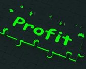 Profit Puzzle Shows Earnings And Investment — Stock Photo