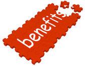 Benefits Puzzle Shows Compensations — Stock Photo