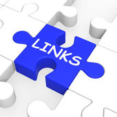 Links Puzzle Showing Website Content — Stock Photo