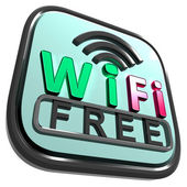 Wifi Free Internet Shows Wireless Connecting — Stock Photo