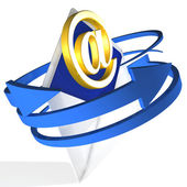 Arrows Circling Envelope Shows E-mail — Stock Photo
