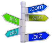 URL Signpost Shows WWW. Addresses — Stock Photo