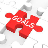 Goals Puzzle Showing Aspiration Targets — Stock Photo