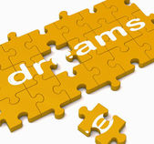 Dreams Puzzle Showing Inspiration And Wishes — Stock Photo