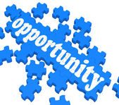 Opportunity Puzzle Shows Career Chances — Stock Photo