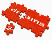 Dreams Sign Showing Hope And Desires — Stock Photo