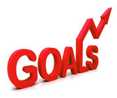 Red Goals Word Shows Objectives Hope And Future — Stock Photo