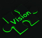 Vision Puzzle Showing Future And Destiny — Stock Photo