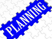 Planning Puzzle Showing Intention And Goals — Stock Photo