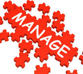 Manage Puzzle Shows Company Supervising — Stock Photo