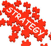 Strategy Puzzle Showing Plans And Tactics — Stock Photo