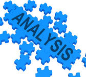 Analysis Puzzle Shows Verification And Testing — Stock Photo