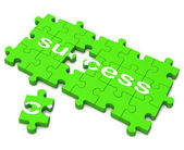 Success Puzzle Shows Attainment Of Wealth — Stock Photo
