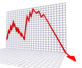 Red Graph Shows Sales Or Turnover — Stock Photo