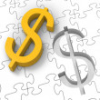 Dollar Puzzle Showing Revenues And Investments — Stockfoto #16637601