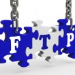 Stock Photo: Ftp Sign Means File Transfer Protocol