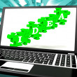 Idea On Laptop Shows Websites' Inventions — Stock Photo