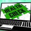 Health Check On Laptop Shows Well Being — Stock Photo