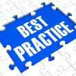 Best Practice Puzzle Shows Effective Habit — Stok fotoğraf