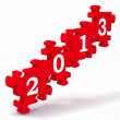 2013 Puzzle Showing New Year's Resolutions — Stock Photo