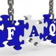 FAQ Means Frequently Asked Questions — Foto de stock #16637919