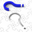 Question Mark Puzzle Shows Confusion — Stock Photo
