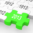 Stock Photo: 2013 Puzzle Piece Shows Predictions