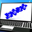2015 On Laptop Shows Future Festivities — Stock Photo #16638091