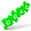 Stock Photo: Goal Puzzle Shows Business Targets And Objectives