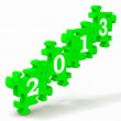2013 Puzzle Showing Future And Forecast — Stock Photo #16638169