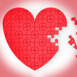 Royalty-Free Stock Photo: Unfinished Heart Puzzle Shows Marriage Proposal