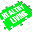 Healthy Living Puzzle Showing Healthy Diet — Stock Photo