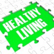 Stock Photo: Healthy Living Puzzle Showing Healthy Diet