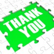 Stock Photo: Thank You Puzzle Showing Thankfulness