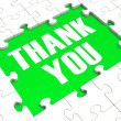 Stok fotoğraf: Thank You Puzzle Showing Thankfulness