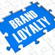 Brand Loyalty Puzzle Showing Trustworthy Products — Foto Stock