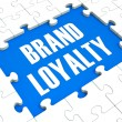 Brand Loyalty Puzzle Showing Trustworthy Products — стоковое фото #16638295