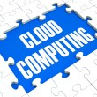 Cloud Computing Puzzle Shows Online Services — Stock Photo