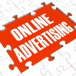 Online Marketing Puzzle Showing Websites' Advertisements - Stock Photo