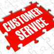 Customer Service Puzzle Showing Support And Assistance - Stock Photo